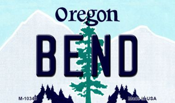 Bend Oregon State License Plate Magnet M-10345