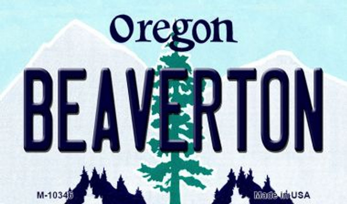 Beaverton Oregon State License Plate Magnet M-10346