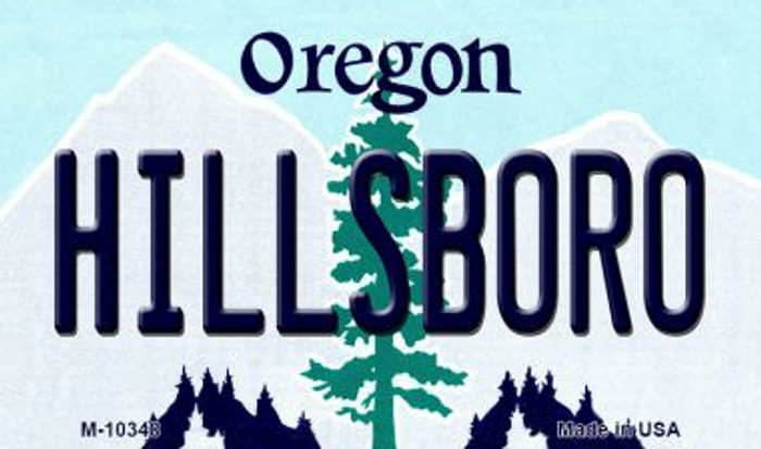 Hillsboro Oregon State License Plate Magnet M-10348