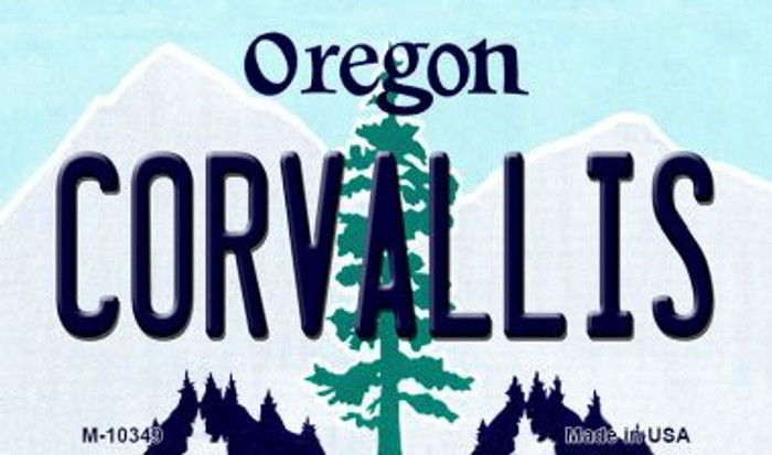 Coroallis Oregon State License Plate Magnet M-10349