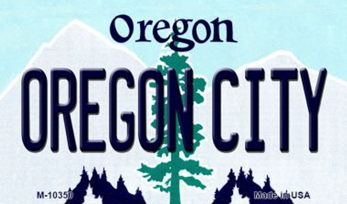 Oregon City Oregon State License Plate Magnet M-10350