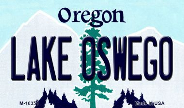 Lake Oswego Oregon State License Plate Magnet M-10351