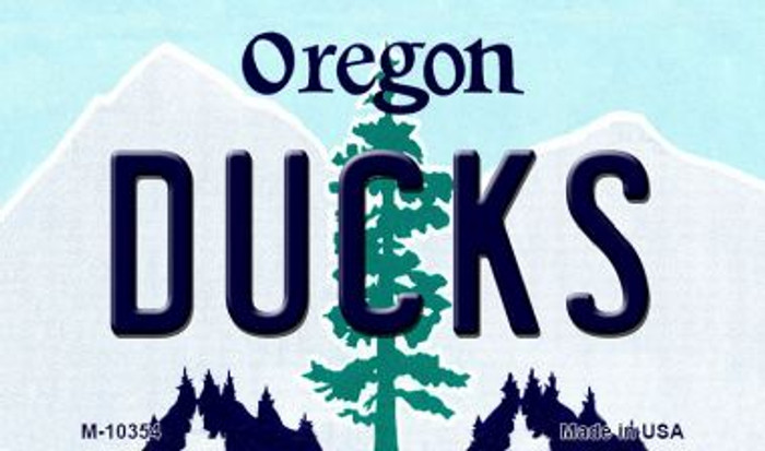 Ducks Oregon State License Plate Magnet M-10354