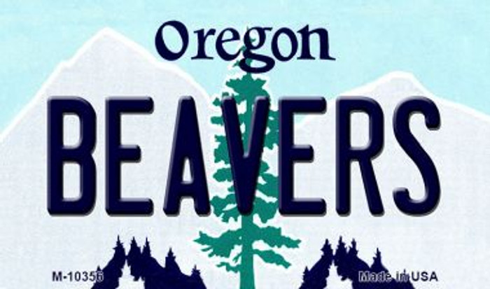 Beavers Oregon State License Plate Magnet M-10356