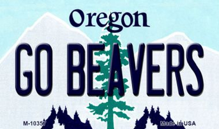Go Beavers Oregon State License Plate Magnet M-10357