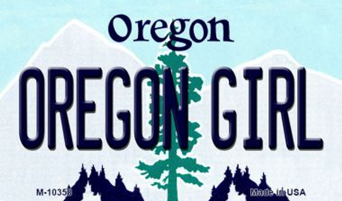 Oregon Girl Oregon State License Plate Magnet M-10358