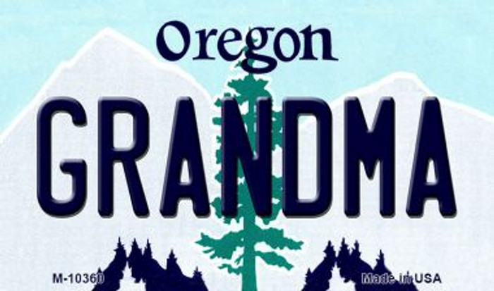 Grandma Oregon State License Plate Magnet M-10360