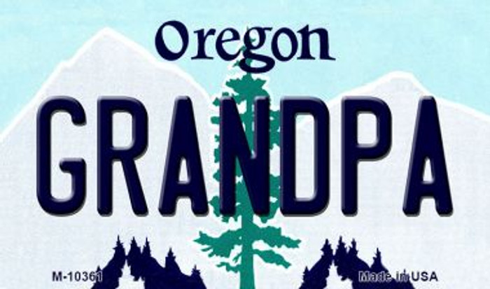 Grandpa Oregon State License Plate Magnet M-10361