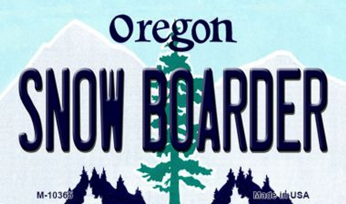 Snow Boarder Oregon State License Plate Magnet M-10365