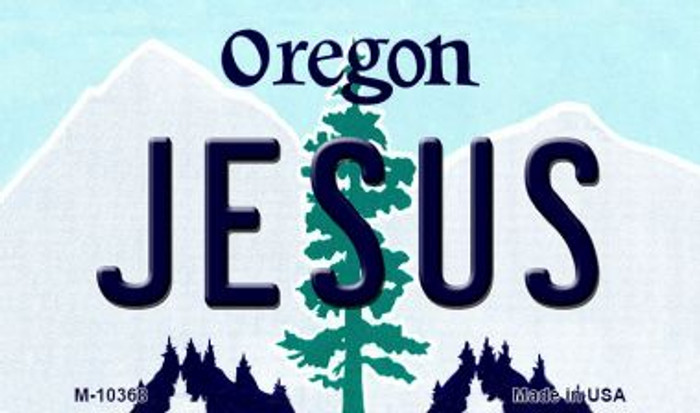 Jesus Oregon State License Plate Magnet M-10368