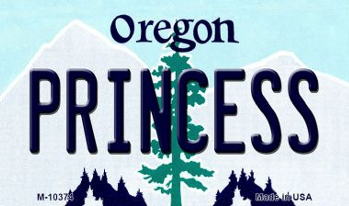 Princess Oregon State License Plate Magnet M-10374