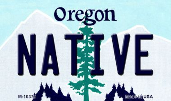 Native Oregon State License Plate Magnet M-10375