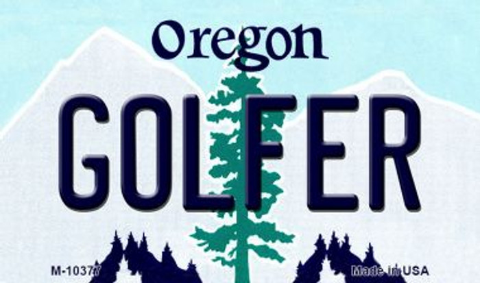 Golfer Oregon State License Plate Magnet M-10377