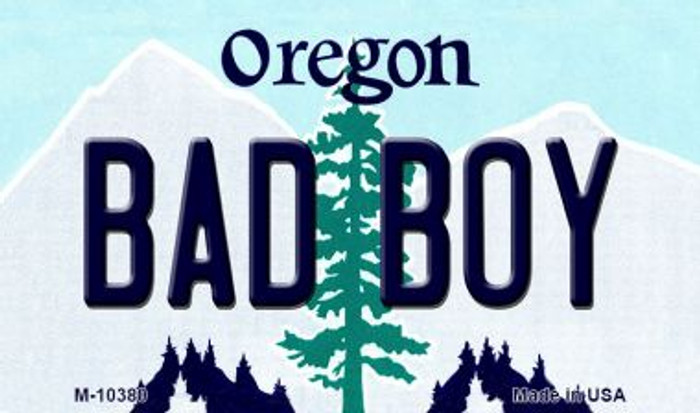 Bad Boy Oregon State License Plate Magnet M-10380