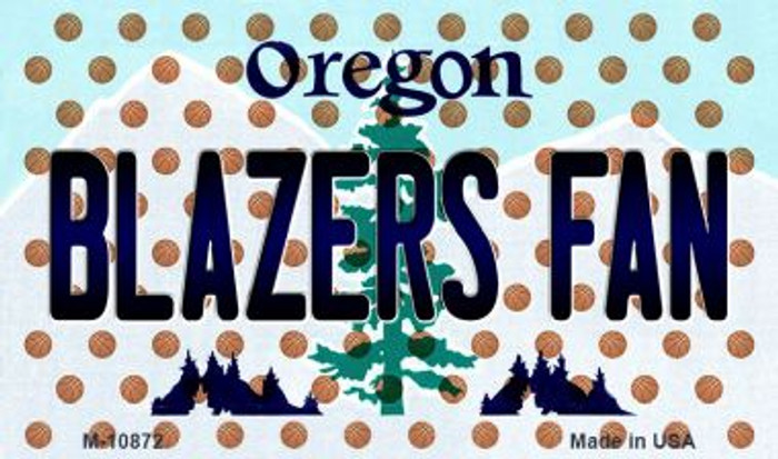 Blazers Fan Oregon State License Plate Magnet M-10872