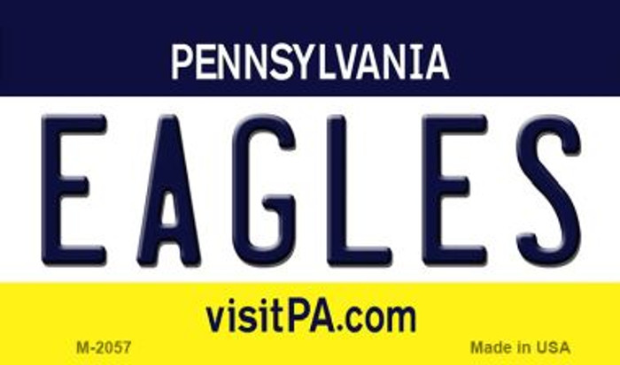 Eagles Pennsylvania State License Plate Magnet M-2057