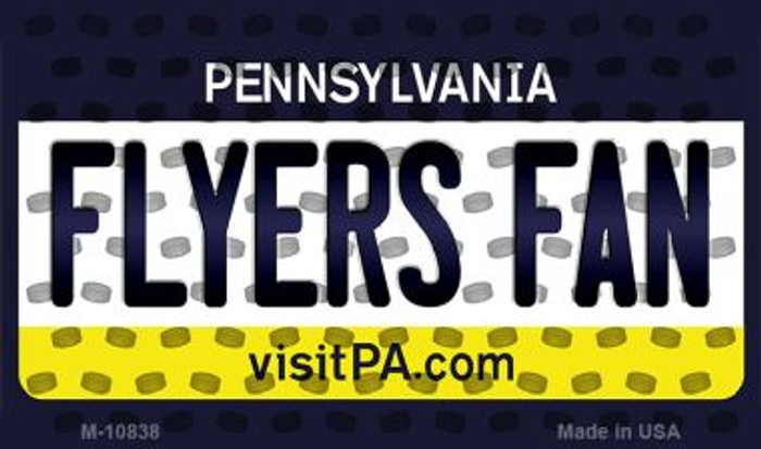 Flyers Fan Pennsylvania State License Plate Magnet M-10838