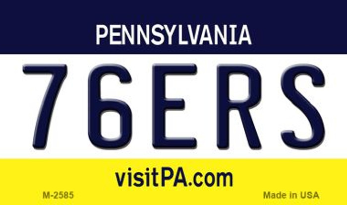 76ers Pennsylvania State License Plate Magnet M-2585