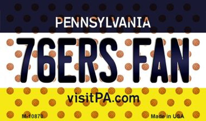 76ers Fan Pennsylvania State License Plate Magnet M-10870