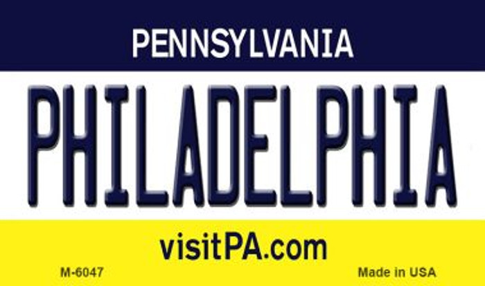 Philadelphia Pennsylvania State License Plate Magnet M-6047