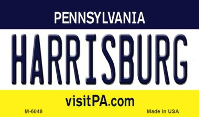 Harrisburg Pennsylvania State License Plate Magnet M-6048