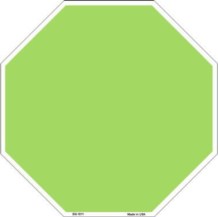 Lime Green Dye Sublimation Octagon Metal Novelty Stop Sign BS-1011