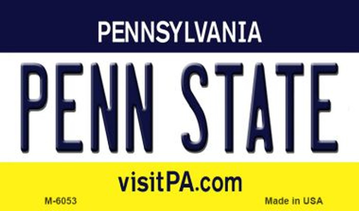 Penn State Pennsylvania State License Plate Magnet M-6053