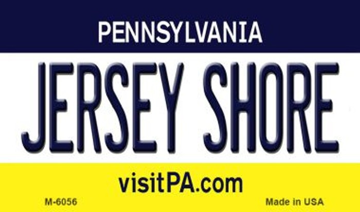 Jersey Shore Pennsylvania State License Plate Magnet M-6056