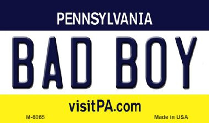 Bad Boy Pennsylvania State License Plate Magnet M-6065