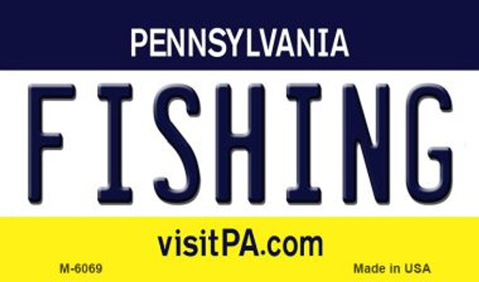 Fishing Pennsylvania State License Plate Magnet M-6069