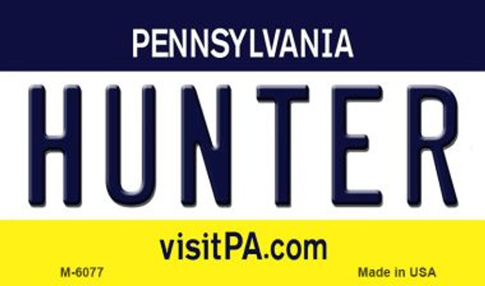 Hunter Pennsylvania State License Plate Magnet M-6077