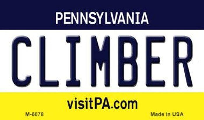 Climber Pennsylvania State License Plate Magnet M-6078