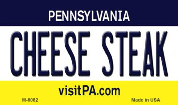 Cheese Steak Pennsylvania State License Plate Magnet M-6082