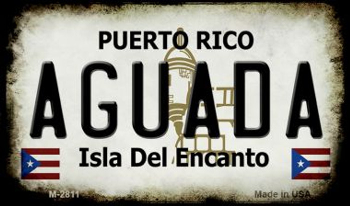 Aguada Puerto Rico State License Plate Magnet M-2811