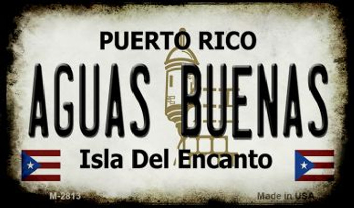 Aguas Buenas Puerto Rico State License Plate Magnet M-2813