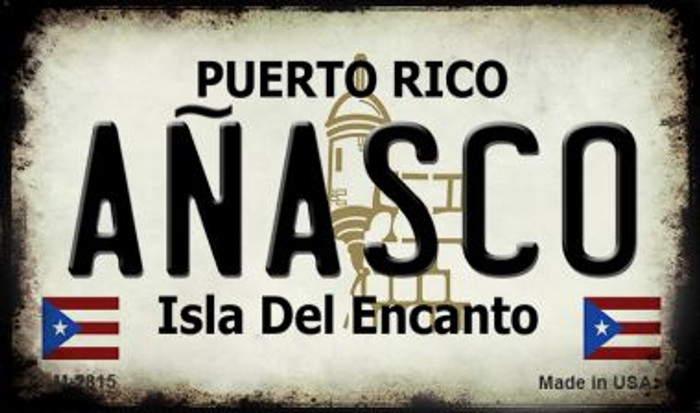 Anasco Puerto Rico State License Plate Magnet M-2815
