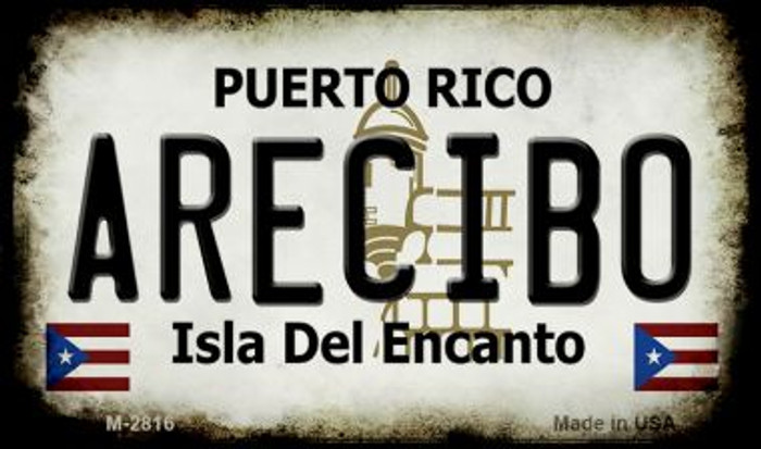 Arecibo Puerto Rico State License Plate Magnet M-2816