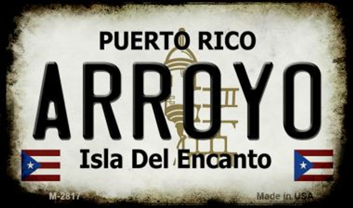 Arroyo Puerto Rico State License Plate Magnet M-2817