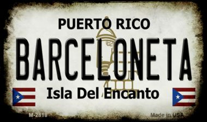 Barceloneta Puerto Rico State License Plate Magnet M-2818