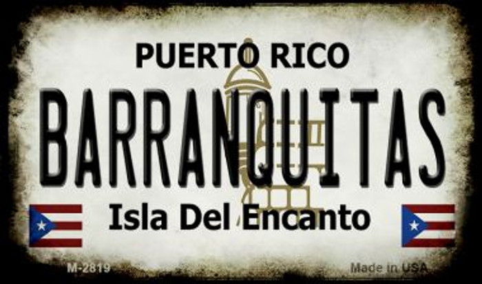 Barranquitas Puerto Rico State License Plate Magnet M-2819