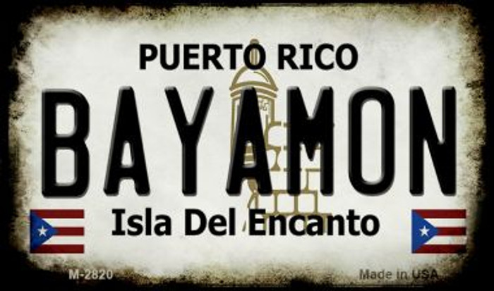 Bayamon Puerto Rico State License Plate Magnet M-2820