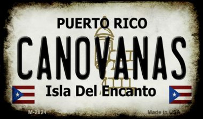 Canovanas Puerto Rico State License Plate Magnet M-2824