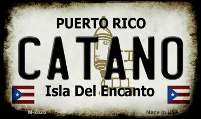 Catano Puerto Rico State License Plate Magnet M-2826