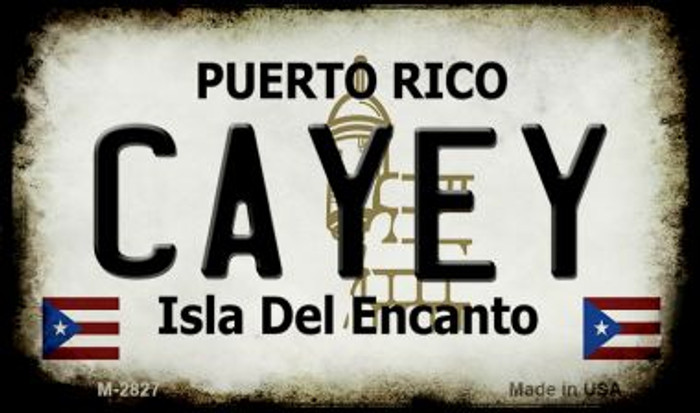 Cayey Puerto Rico State License Plate Magnet M-2827