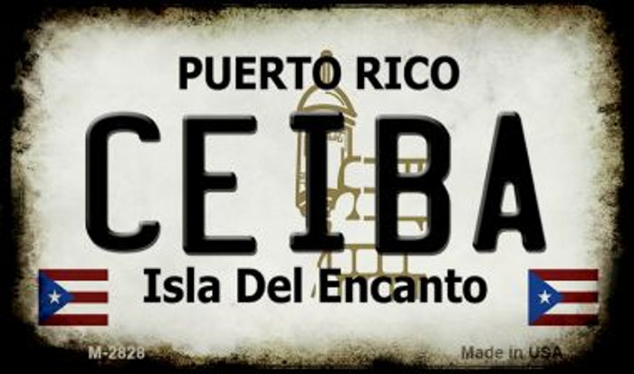 Ceiba Puerto Rico State License Plate Magnet M-2828