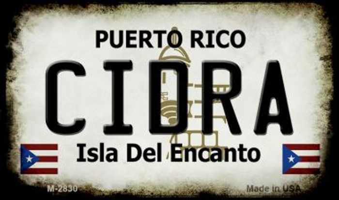 Cidra Puerto Rico State License Plate Magnet M-2830