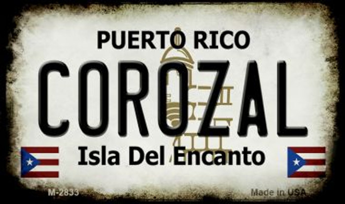 Corozal Puerto Rico State License Plate Magnet M-2833