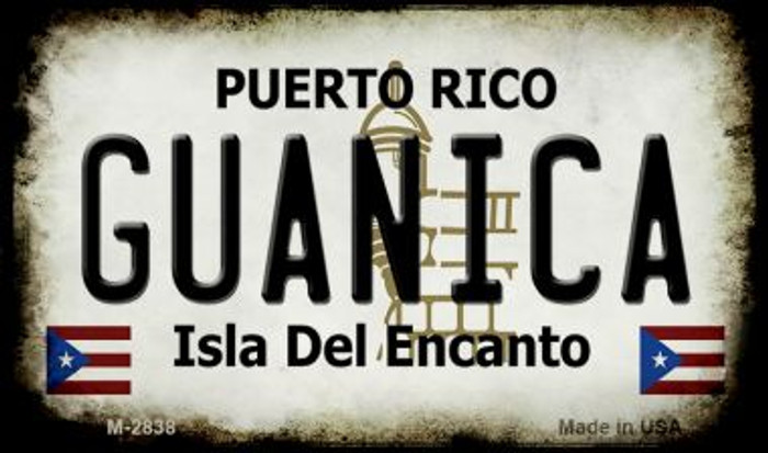 Guanica Puerto Rico State License Plate Magnet M-2838