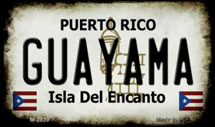 Guayama Puerto Rico State License Plate Magnet M-2839
