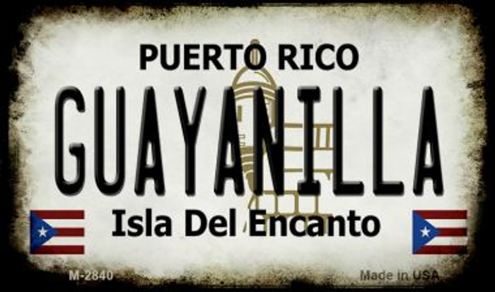 Guayanilla Puerto Rico State License Plate Magnet M-2840